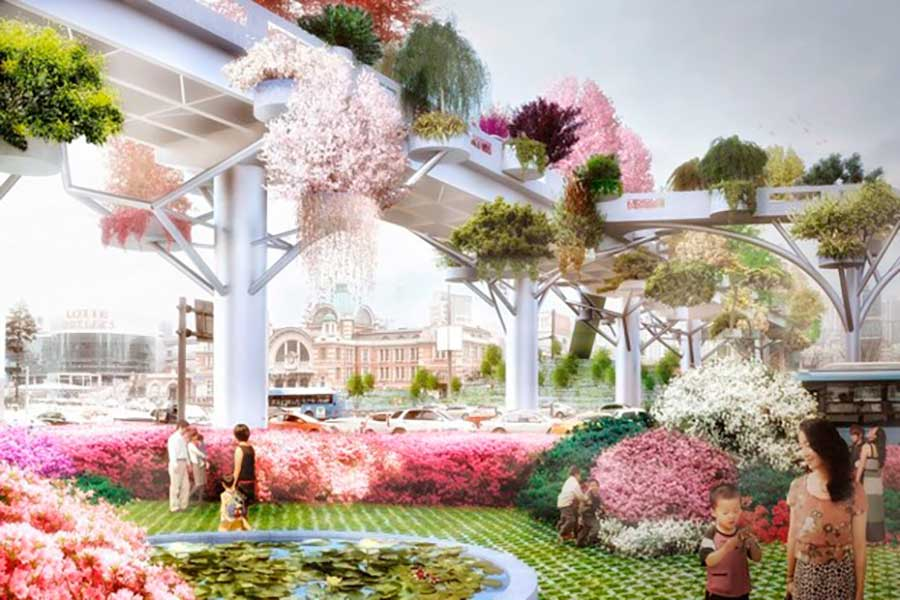 Seoul Plans a Sublime, Flower-Covered High Line