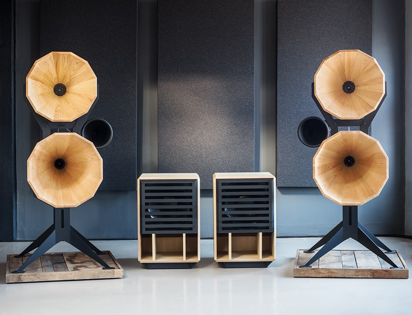 OMA audio looks back at gramophone design for imperia horn series