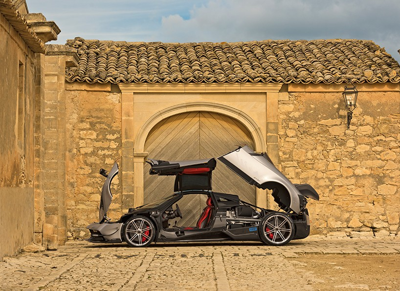 Pagani aerodynamically redesigns almost every single body panel for the Huayra BC