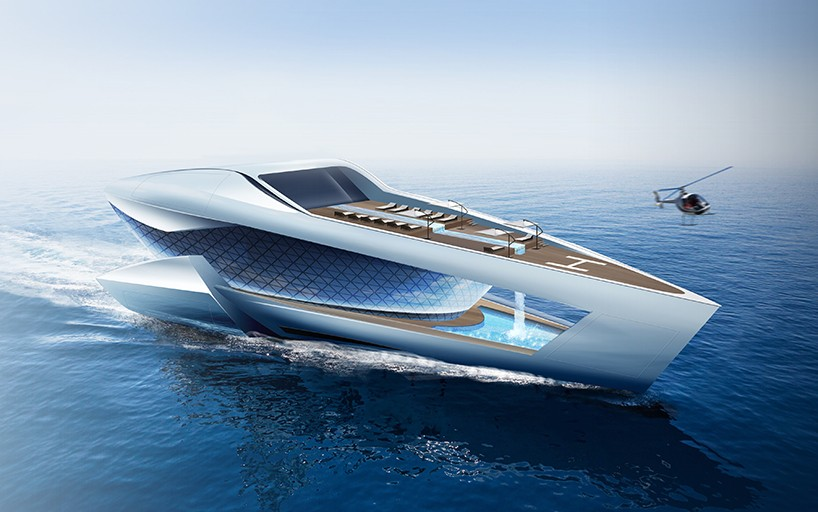 Sea level's CF8 augments the future of luxury yachting with curved glass structure