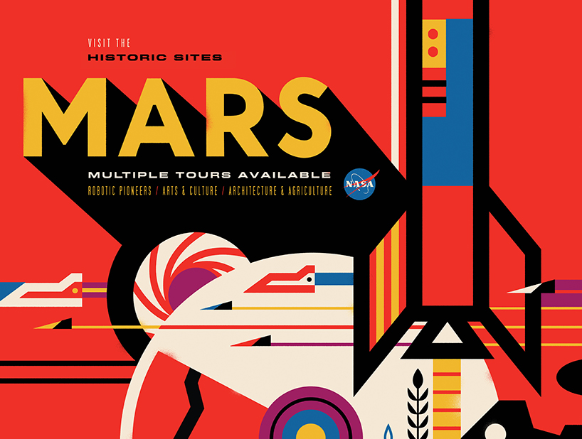 Invisible creature promotes space tourism with retro posters for NASA