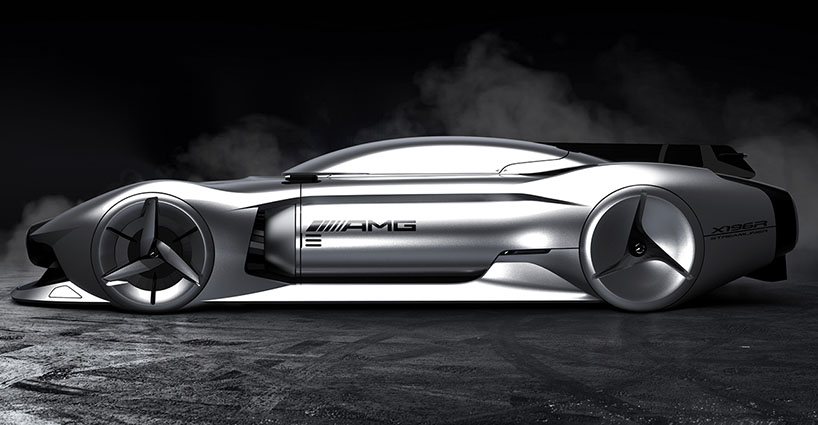 Dubbed the '2040 streamliner', this elegant car concept depicts the future for automotive brand, Mrcedes-Benz