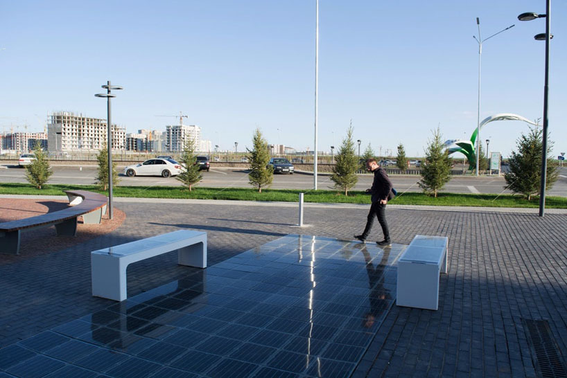 Visitors to a pop-up park in Budapest, Hungary, and a shopping mall in astana, kazakhstan, can now charge their smart devices with solar energy