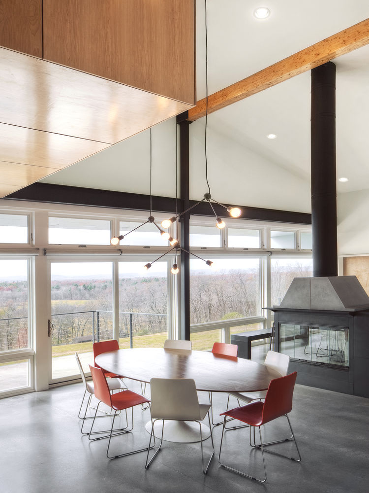 Super low-E insulated glass windows of Hudson Valley home.
