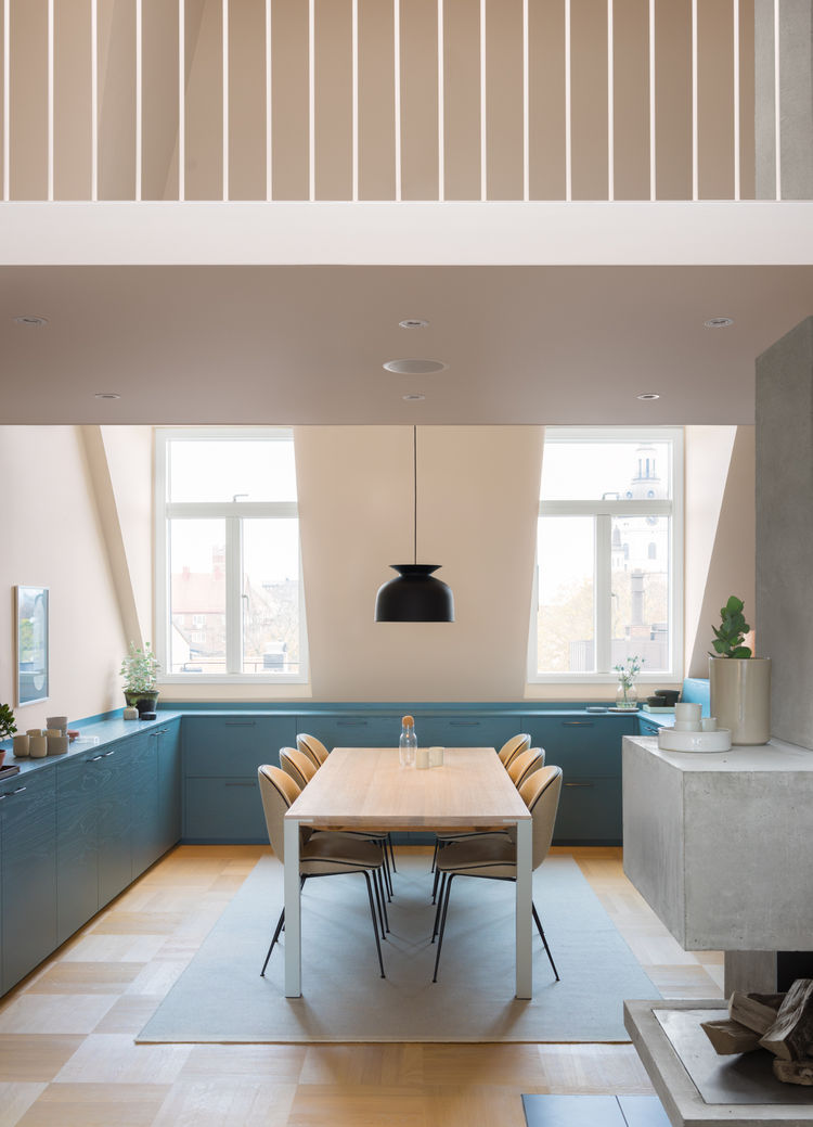 To inform the color palette for this interior renovation in Stockholm, NOTE Design Studio began with three inspirational images