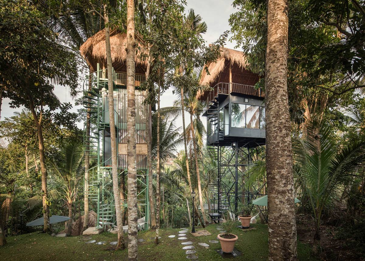Treetop boutique hotels with minimum footprint on Bali