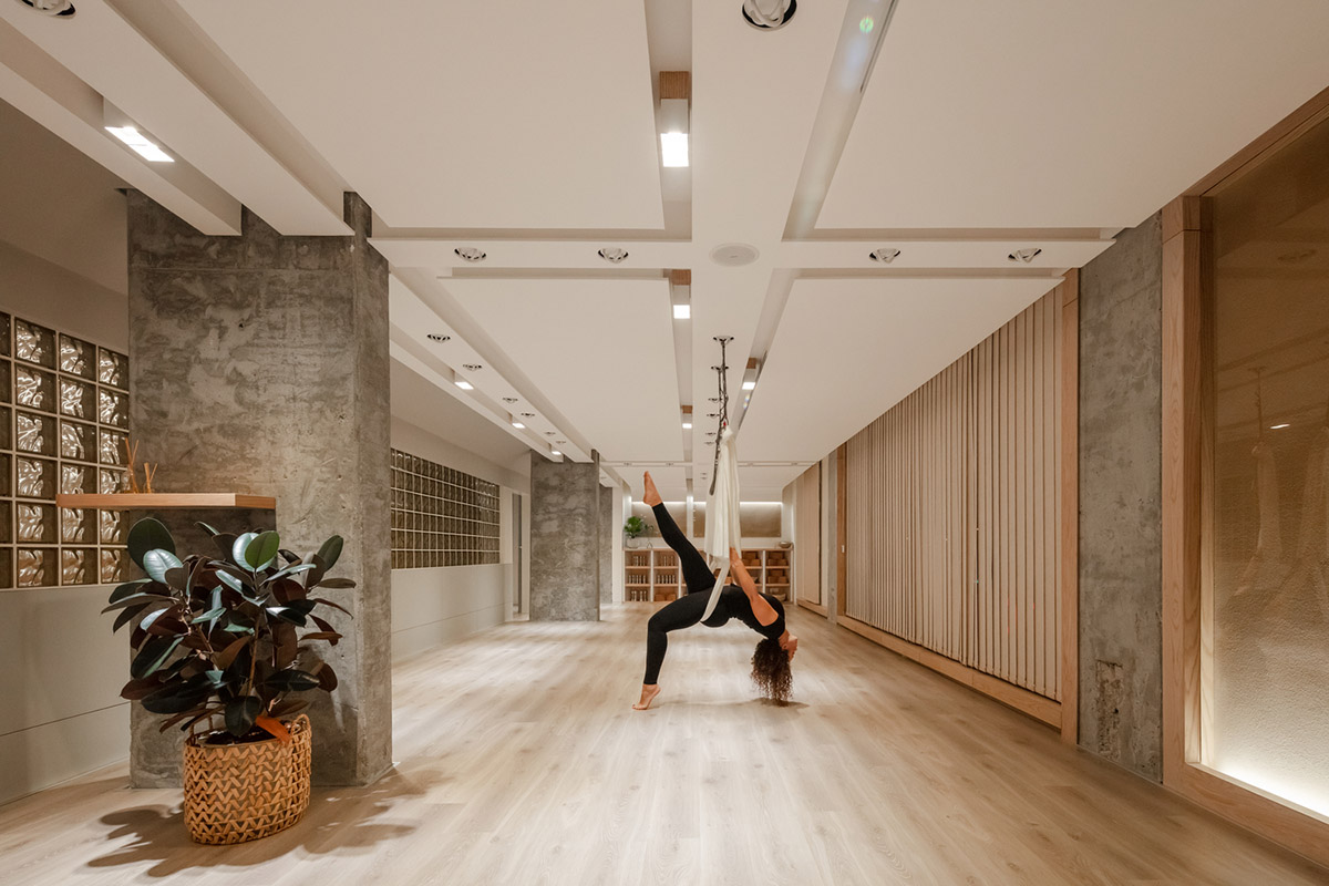 Diversity in the interior for a yoga studio in Kuwait