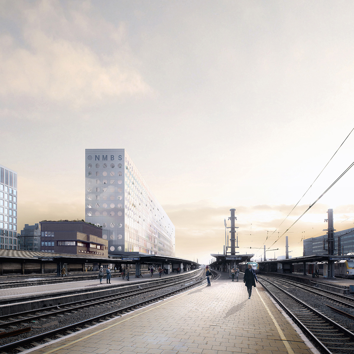 SNCB new headquarters with 'cliff-like' façade in Brussels