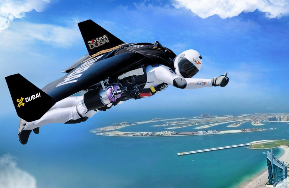 Jetman flight over Dubai in 4K