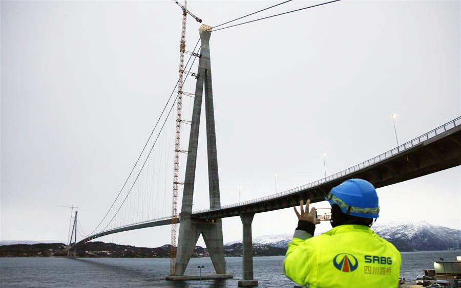 Halogaland Bridge near Norway's northern port city of Narvik with a total length of 1,533 meters and a free span of 1,145 meters is the longest suspension bridge within the Arctic Circle