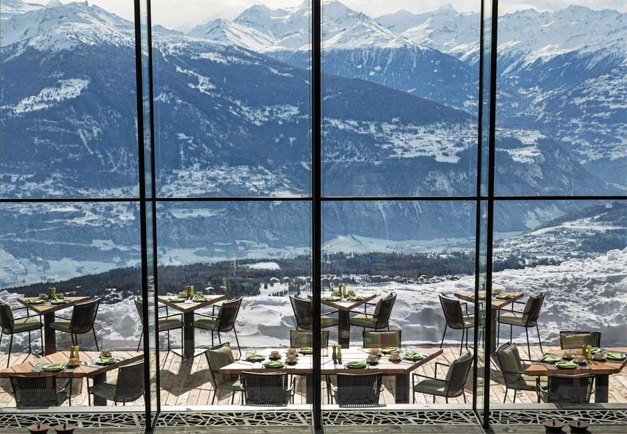 Hotel Chetzeron giving breathtaking views of Swiss Alps