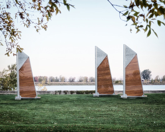 Félix Guyon's Sails Benches are Anchored in Montreal