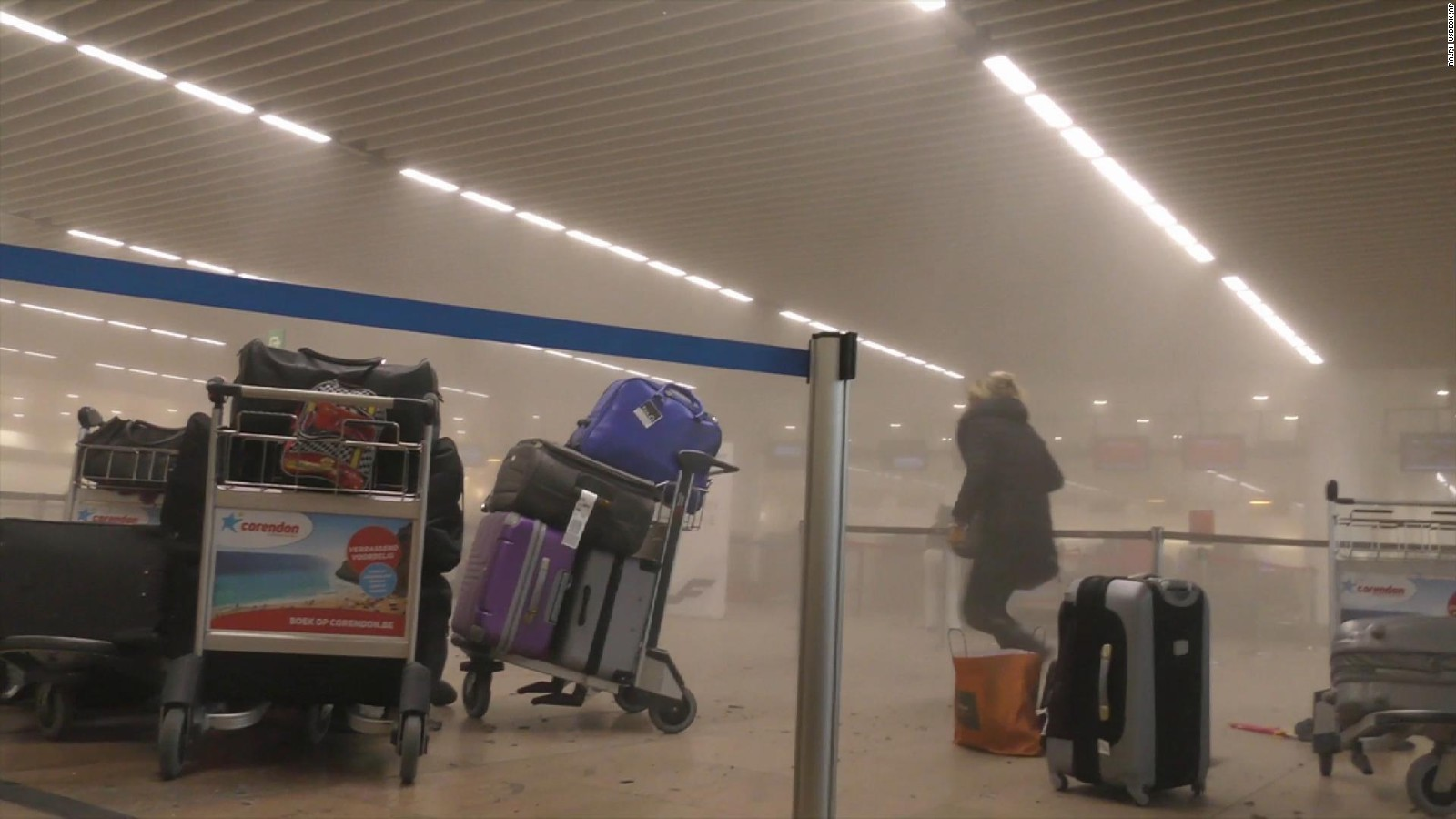 Brussels terror attacks: in airport and metro