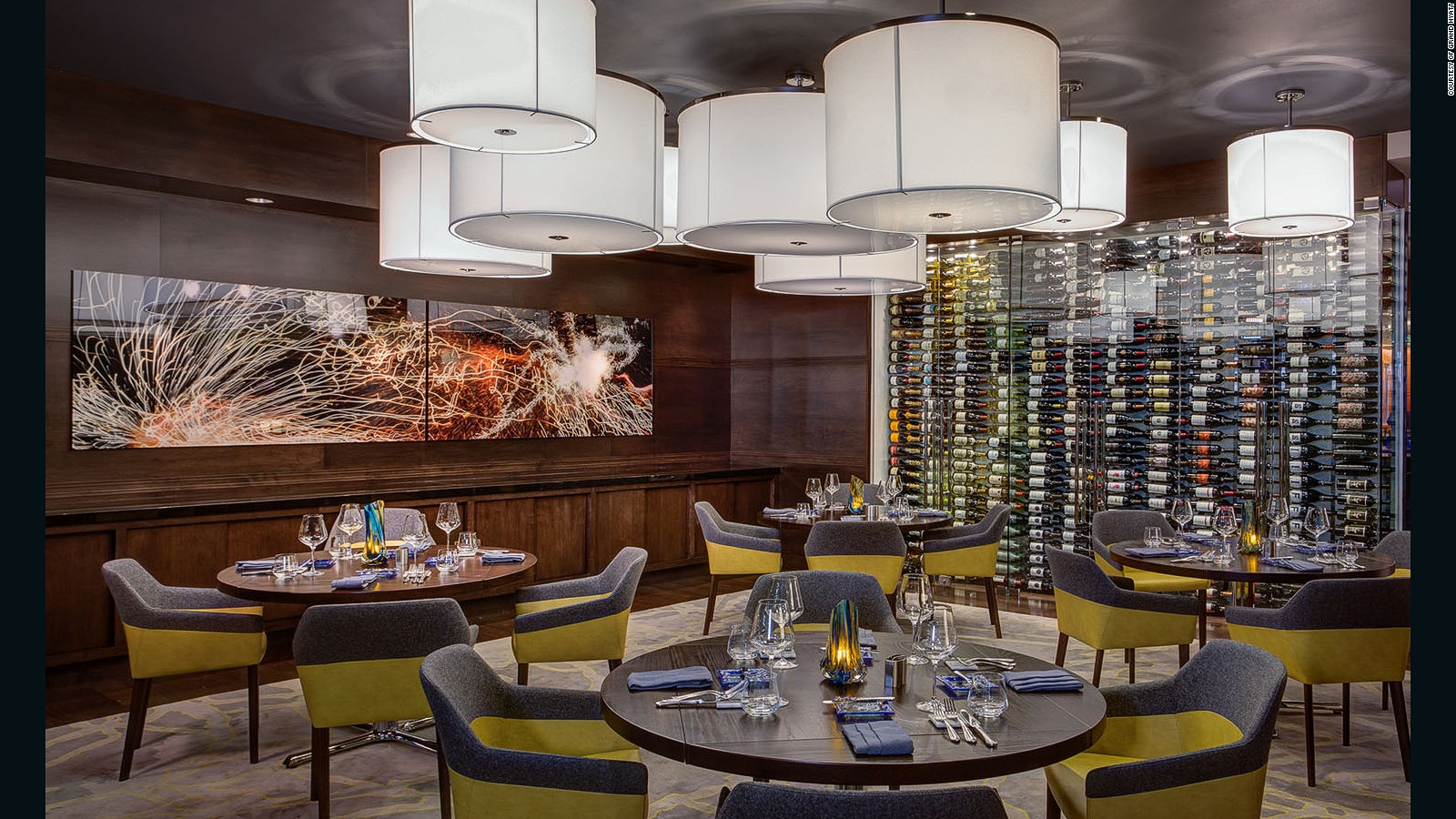 The Grand Hyatt Dallas is famous (or infamous) for its Wine Wall, where guests can dine surrounded by 972 bottles of the best vintages.