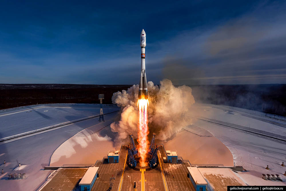 4th launch in the history of Vostochny cosmodrome. The Soyuz-2.1a Launch Vehicle successfully lifted off at the designated time