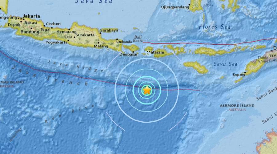 A powerful 6.2 magnitude earthquake has struck some 190 miles south of the Indonesian island of Lombok, according to preliminary data from the US Geological Survey