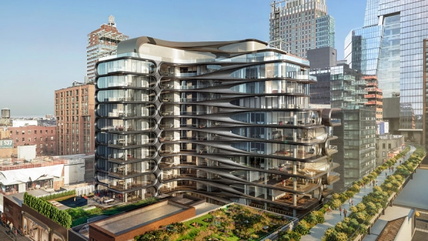 residential complex, 520 West 28th, NYC by Zaha Hadid